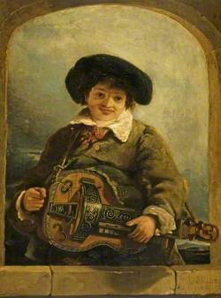 An Italian Boy with a Hurdy-Gurdy