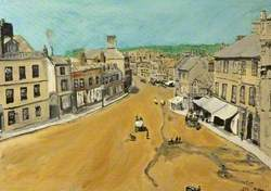 Imaginary Scene of High Street, Chippenham, Wiltshire, during the Victorian Period