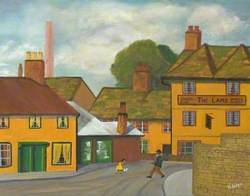 River Street, Chippenham, Wiltshire Showing 'The Lamb Inn'