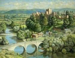 Landscape with Ludlow Castle, Shropshire