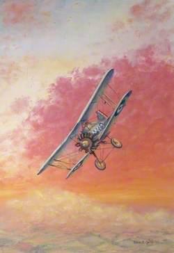 Biplane with RAF Markings