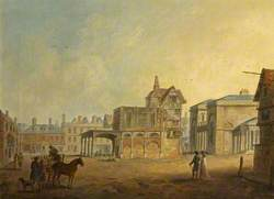 View of Salisbury Guildhall, Wiltshire, from the Square, 1795