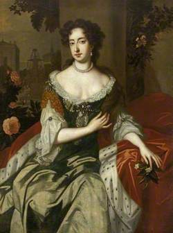 Queen Mary II (1662–1694), Sseated Holding a Sprig of Orange Blossom