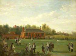 Opening Game of the Oldham Subscription Bowling Green, Frankhill, 1860