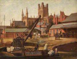 Chester Cathedral from the Shropshire Union Canal