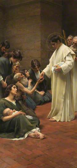 Saint Laurence Distributing the Treasures of the Church to the Poor
