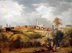Oldham, Lancashire, from Glodwick Fields