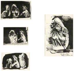 Four Studies for 'Les epouvantees'