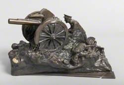 Artillery Piece Being Fired