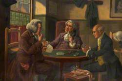 Game of Crib (Oliver Goldsmith, Dr Samuel Johnson and David Garrick)