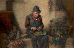 Old Man Shelling Peas