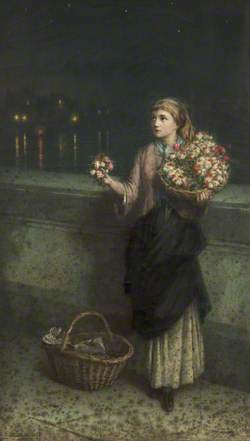 A Flower Seller on London Bridge