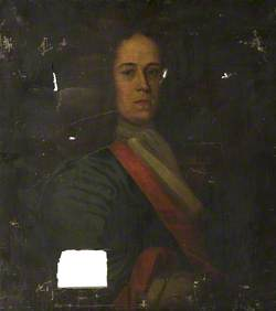 Portrait of Man with a Red and White Cravat