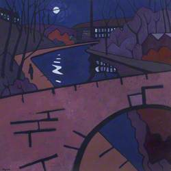 Canal Scene at Night