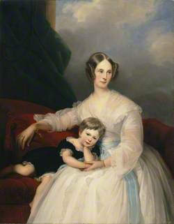 Mrs Hervey Francis de Montmorency and Her Daughter Frances