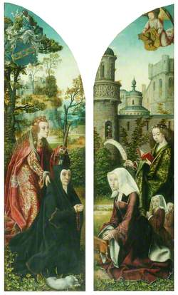 Saint Catherine and Saint Barbara with Donors
