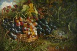 Still Life with Grapes, Brambles and Bird's Nest