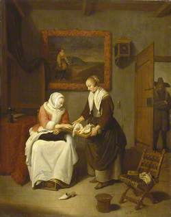 Interior with a Lady Choosing Fish