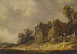 Landscape with a Cottage and a Barn