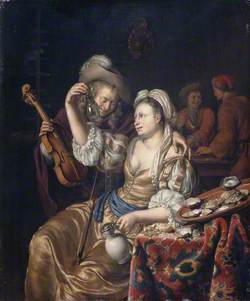 Interior with a Cavalier and Lady