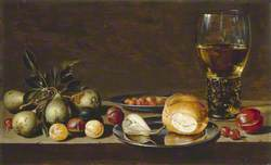Still Life: Fruit, Bread and a Goblet on a Table