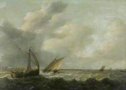 Fishing Boats in a Choppy Sea