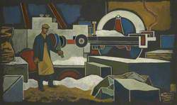 Man at Conveyor Machine