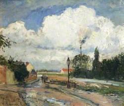 The Quai du Pothuis at Pontoise after Rain