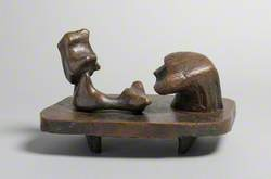 Two Piece Reclining Figure: Maquette No. 6