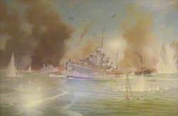 HMS 'Havant' off Dunkirk, May 1940
