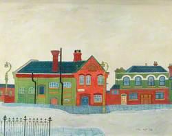 Railway Station, possibly Woolston, Southampton