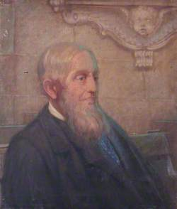 Portrait of an Elderly Man in Farnham Parish Church