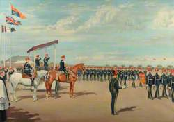 10th Royal Hussar Guidon Parade March Past HRH Duke of Gloucester, Colonel-in-Chief