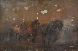 Horses Hauling Stone at Portland
