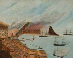 Spanish Fleet Bombarding Valparaiso, March 1866