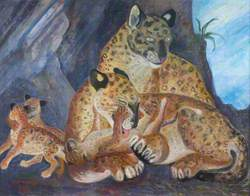Leopard and Family