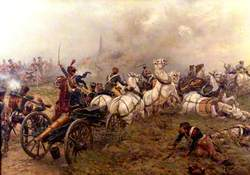 The Capture of a French Battery by the 52nd Regiment at Waterloo