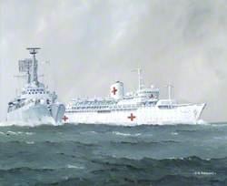 SS 'Uganda' and HMS 'Antrim'
