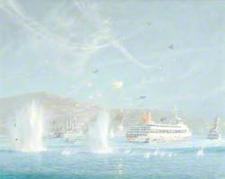 San Carlos Anchorage under Attack, 'Canberra' Survives the Day, 21 May 1982
