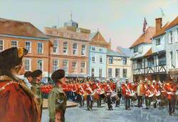 The Massed Bands and Corps of Drums of the Wessex Regiment Prince of Wales Division, Romsey, 13 June 1983