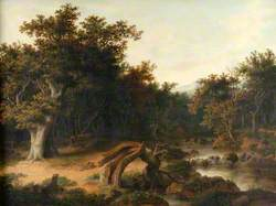 Landscape with Trees, Cattle, and Stream