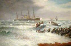 The Rescue of the German Steamer 'Eider' off Atherfield Ledge