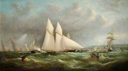 'The Cambria', Winner of the Town Cup RVYC Regatta, 1868