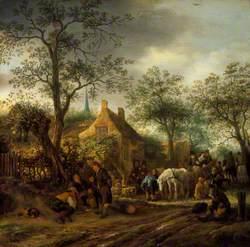 Travellers at an Inn