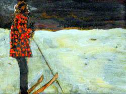 Girl on Skis