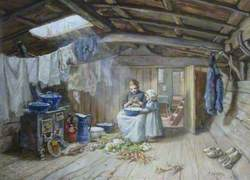 Kitchen of a Dutch Barge