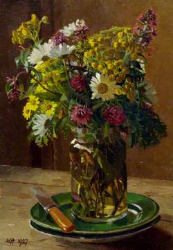 Flowers in a Jam Jar