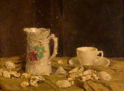 Still Life: A Jug, Teacup and Shells