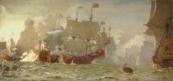 Shipping Scene (St James's Fight, 5 July 1666)