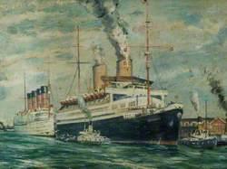 SS 'Europa' Departing Southampton